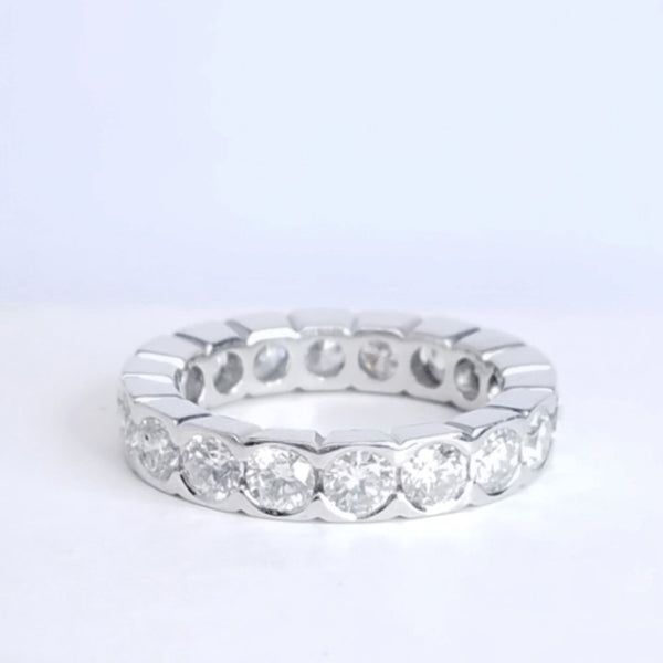 Half Bezel Set Diamond Eternity Band in Platinum