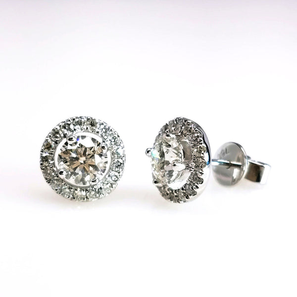 Adrianna Diamond Studs - SEA Wave Diamonds