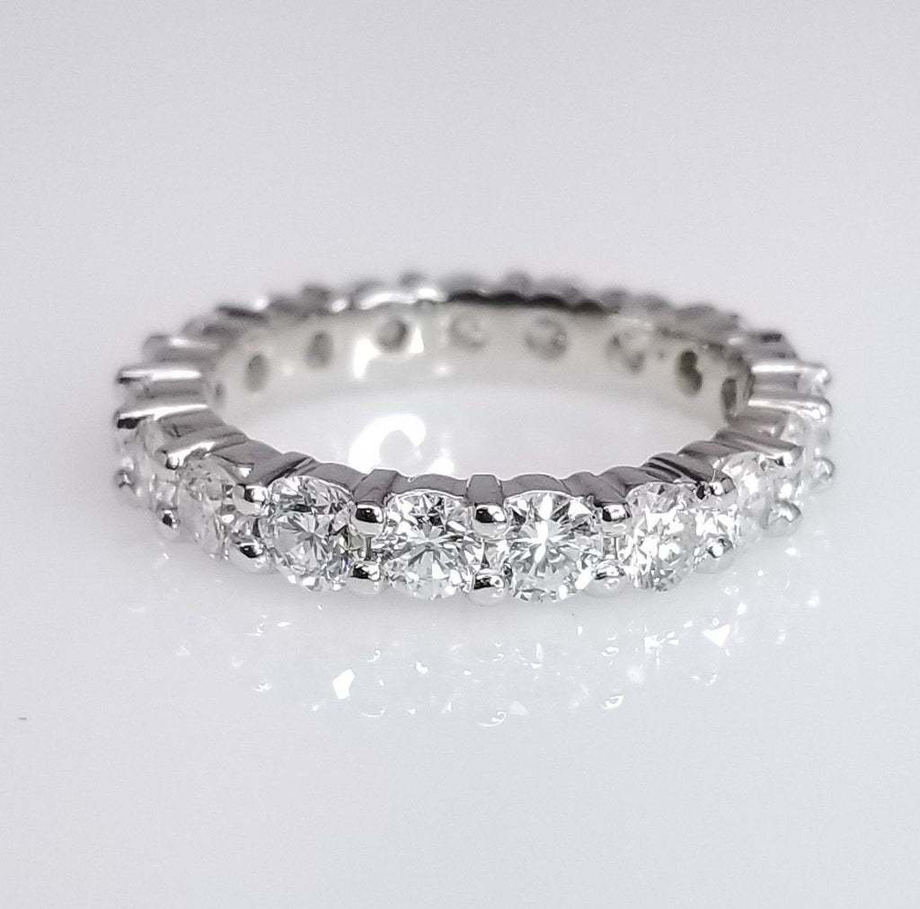 Diamond Eternity Band Shared Prong Setting Sea Wave Diamonds: Shared Prong Pave Wedding Band At Reisefeber.org