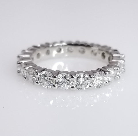 Diamond Eternity Band Shared Prong Setting - SEA Wave Diamonds