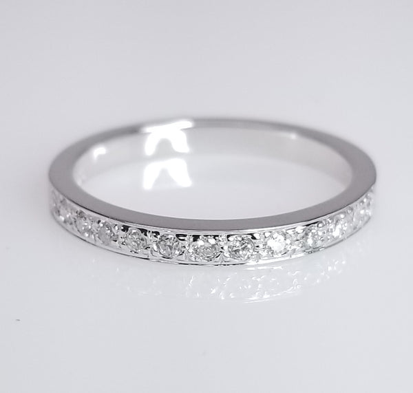 Vintage Inspired Diamond Wedding Band - SEA Wave Diamonds
