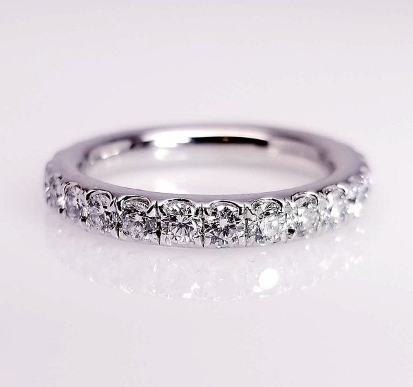 Extra Comfort Fit Victorian Scoop Pave Diamond Ring - SEA Wave Diamonds