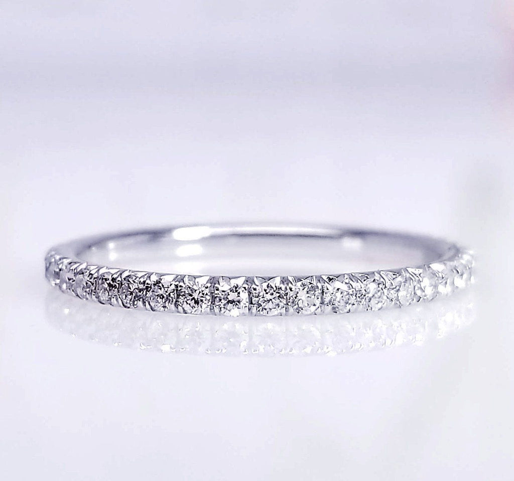 diamond st bands pave double rose band in eternity ceremony greenwich gold