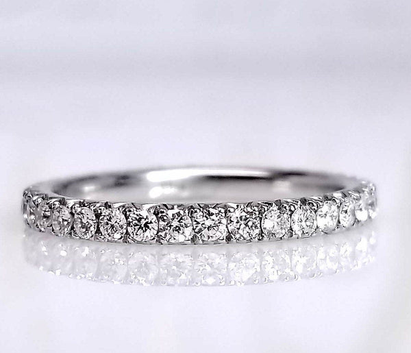 Smooth Diamond Eternity Band - SEA Wave Diamonds