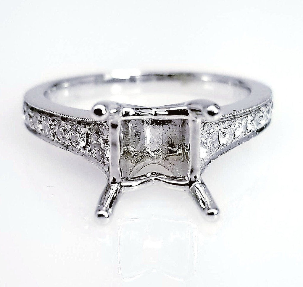 Tapered Diamond Engagement Ring Setting