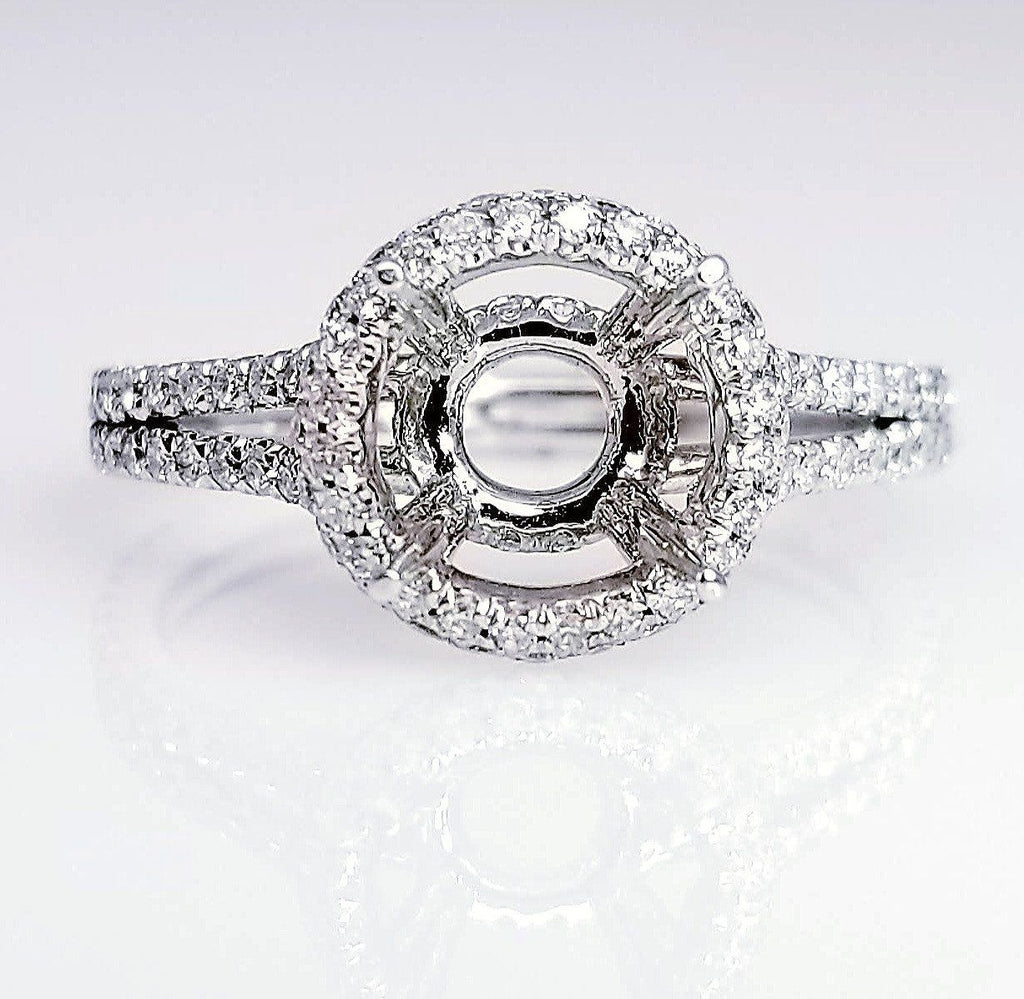 Halo Diamond Setting With Split Shank
