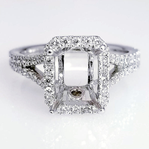 Secret Diamond Split Shank Engagement Ring Setting