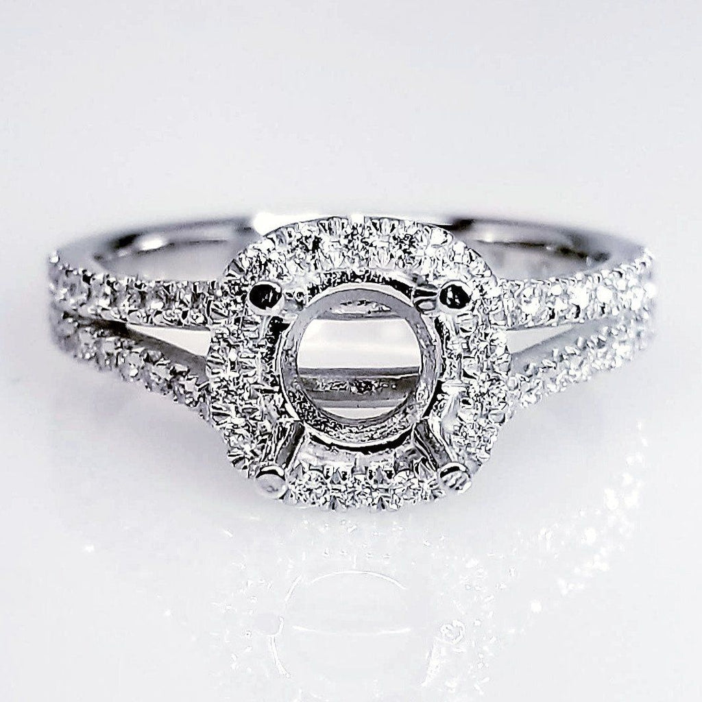 diamond round band shop twist wedding engagement ring halo and matching shank rings fotor