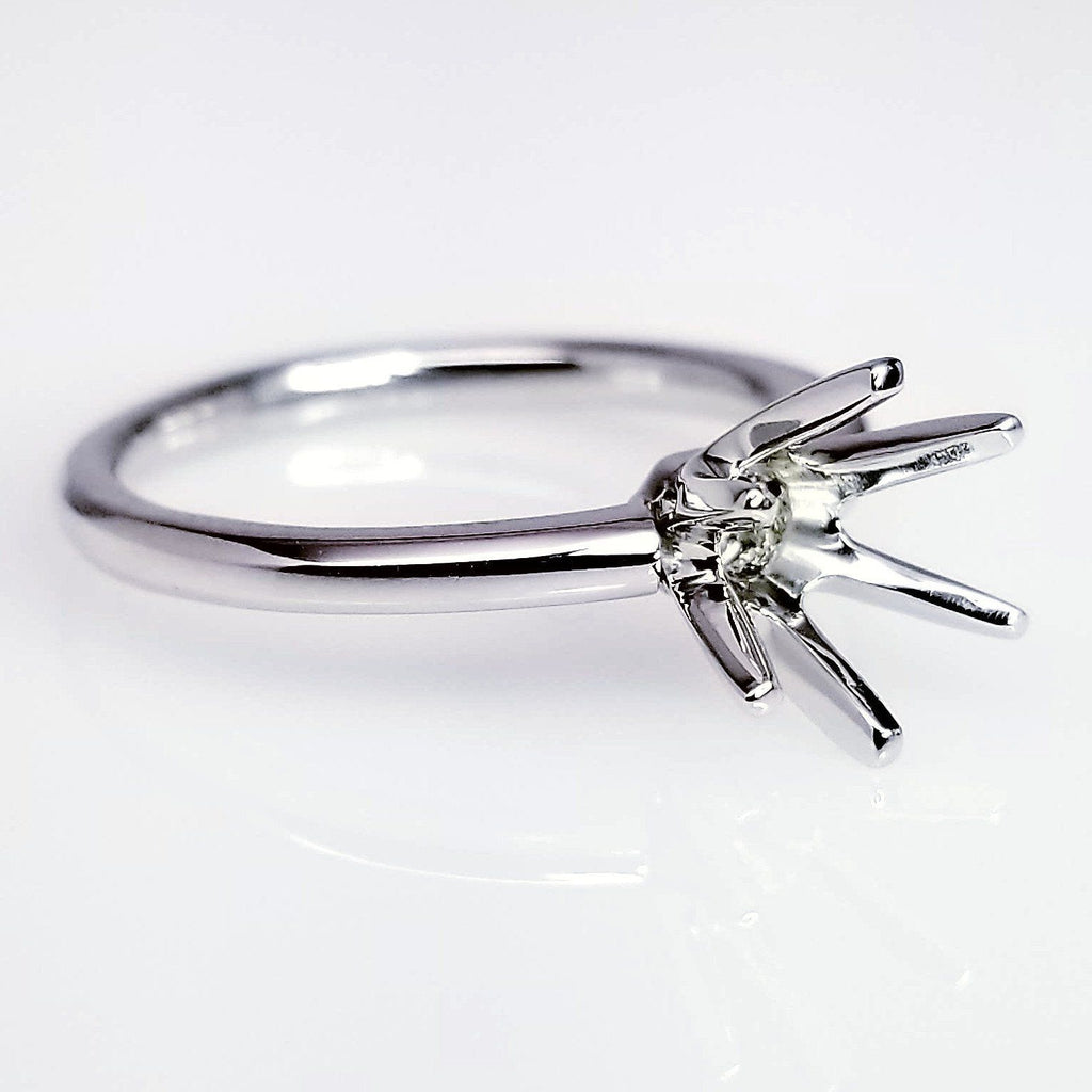 Six Prong Solitaire Diamond Engagement Ring Setting