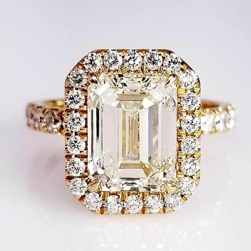 gold ring rings engagement jewellery emerald cut white victorian