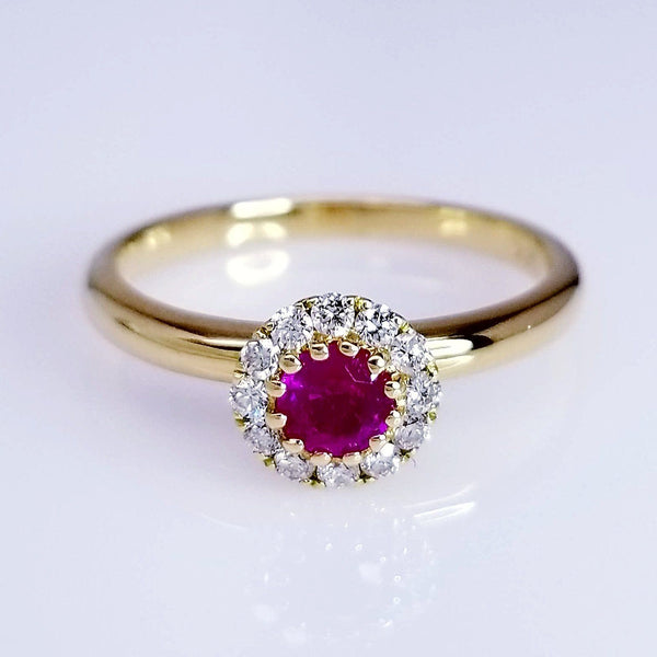 0.37 Carat Ruby Ladies Ring - SEA Wave Diamonds