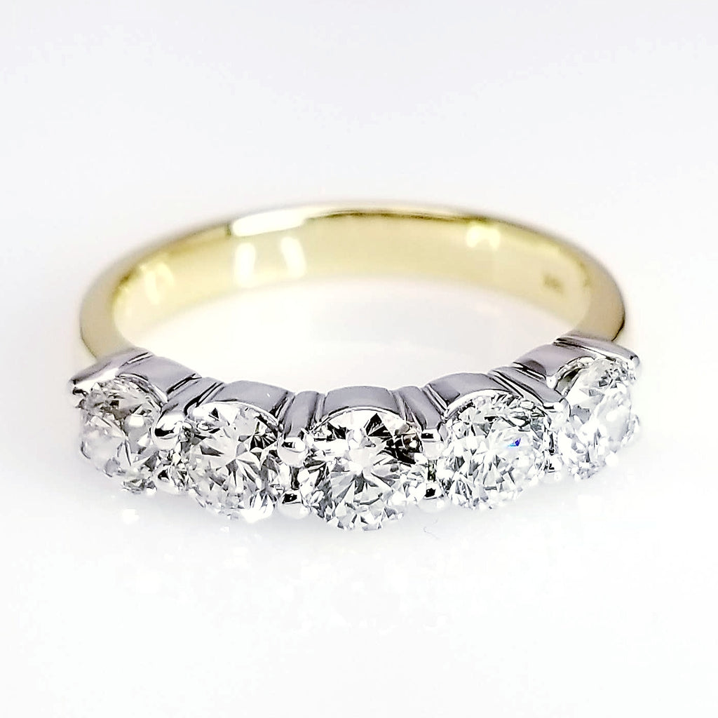 stone yellow gold halo bands white band and diamond