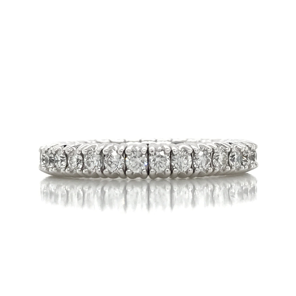 Flexible Expandible .95CT Diamond Eternity Band in 18K Gold - SEA Wave Diamonds