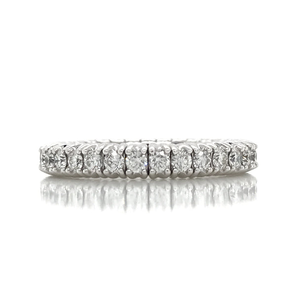 Flexible Expandible .95CT Diamond Eternity Band in 18K Gold