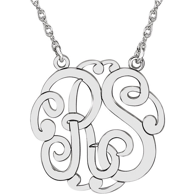 2-Letter Script Monogram Necklace