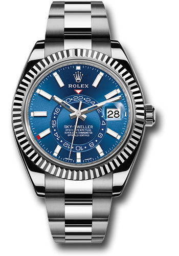 Rolex Sky-Dweller Blue Dial Complete Set 2017 - 2019 326934 - SEA Wave Diamonds