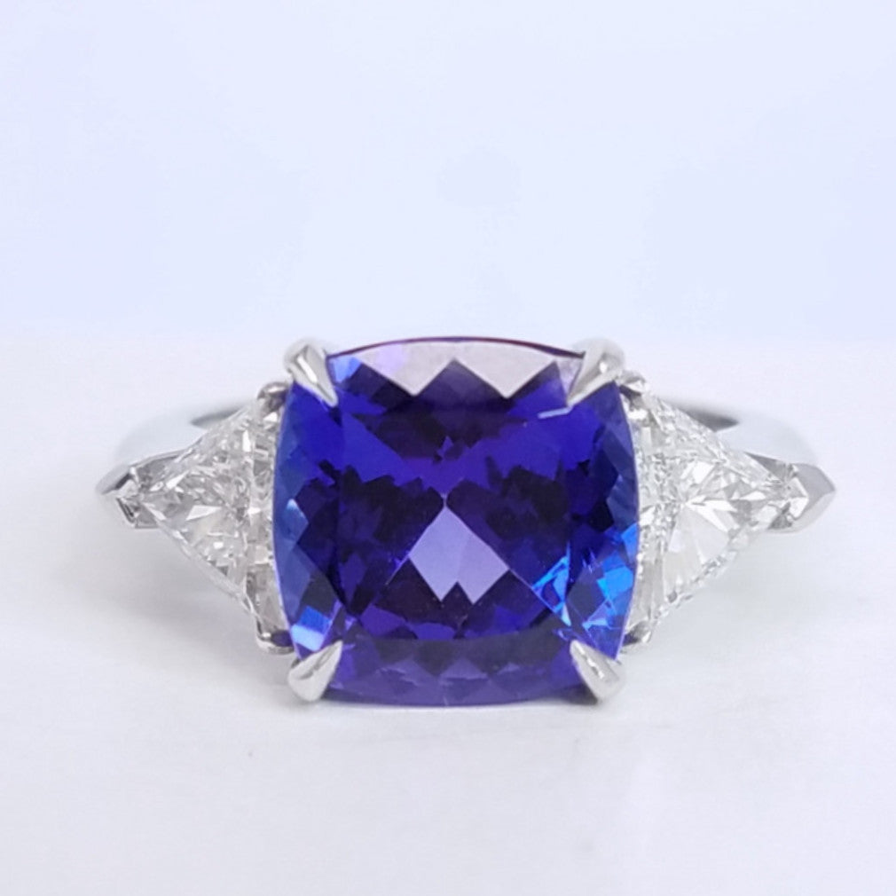 sea gemstone diamond wave tanzanite three ring stone anniversary diamonds products