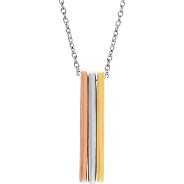 Triple Bar Necklace - SEA Wave Diamonds