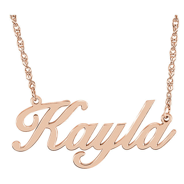 Petite Fancy Script Name Necklace