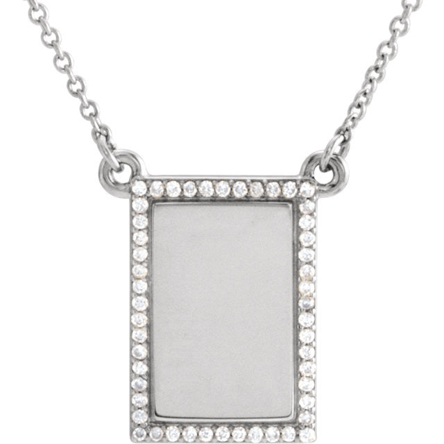 Diamond Engravable Necklace - SEA Wave Diamonds
