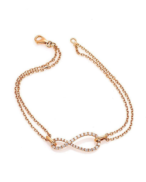 Infinite Diamond Bracelet in 18K Rose Gold