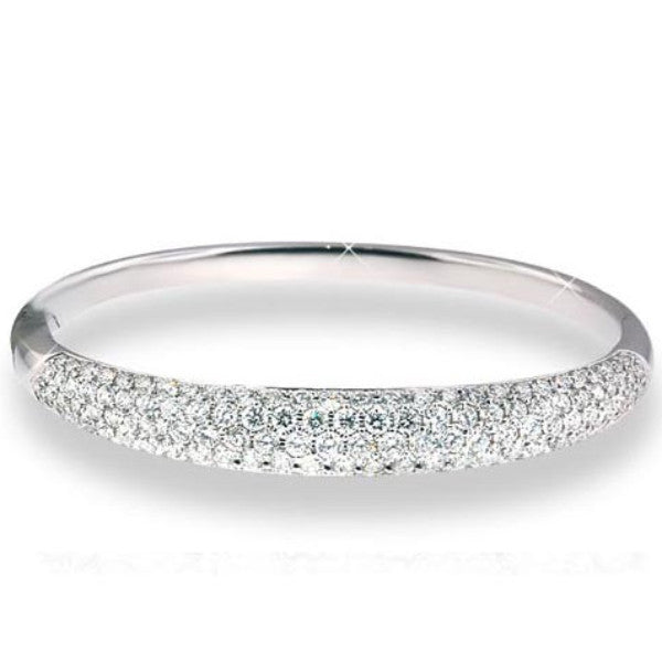 Diamond Pave Bangle - SEA Wave Diamonds