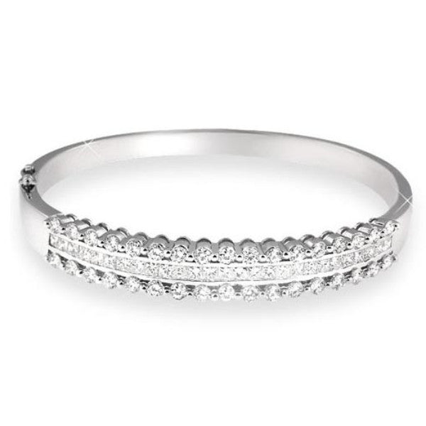 Vintage Style Diamond Bangle Bracelet - SEA Wave Diamonds