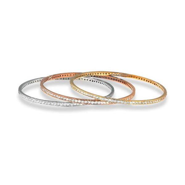 Stackable Diamond Bangle - SEA Wave Diamonds