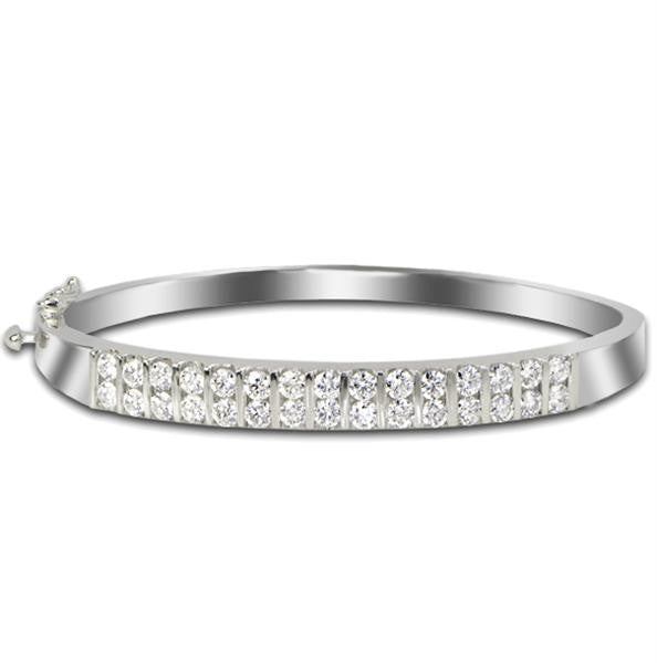 Diamond Bangle Bracelet - SEA Wave Diamonds