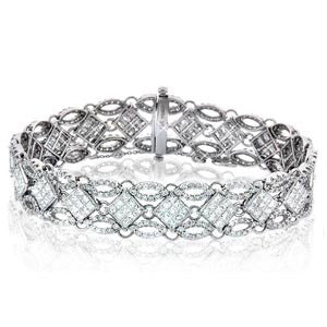 Mesh Style Diamond Bracelet - SEA Wave Diamonds