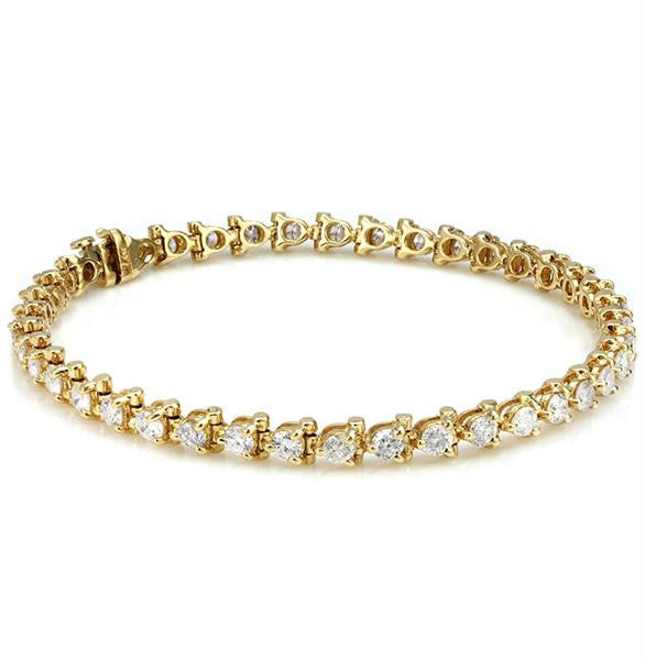 Diamond Bracelet In 14k Yellow Gold - SEA Wave Diamonds