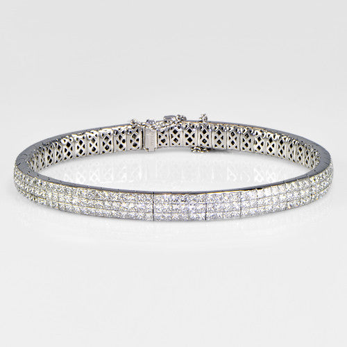 10.86cts Flexi Diamond Bangle - SEA Wave Diamonds