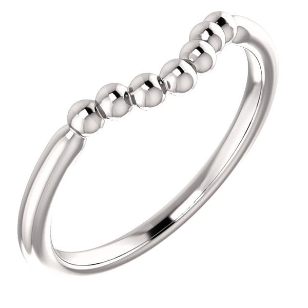 Beaded Contour Ring - SEA Wave Diamonds