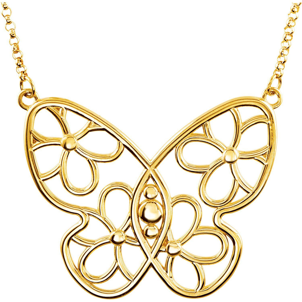 Butterfly & Floral Necklace - SEA Wave Diamonds