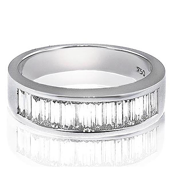 Baguette Diamond Wedding Band - SEA Wave Diamonds