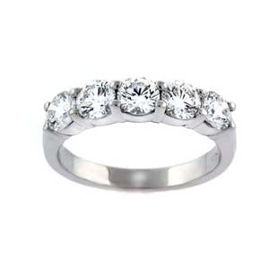 1.55cts Shared Prong Anniversary Ring - SEA Wave Diamonds