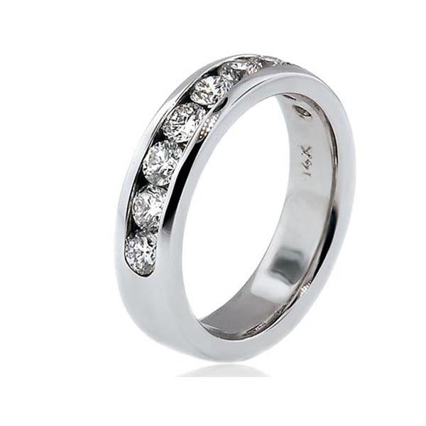 Channel Set Diamond Wedding Band - SEA Wave Diamonds