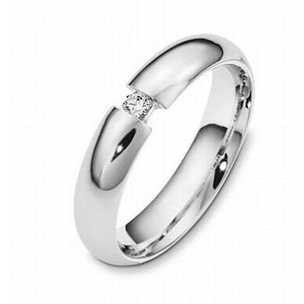 0.27ct Single Stone Wedding Band - SEA Wave Diamonds