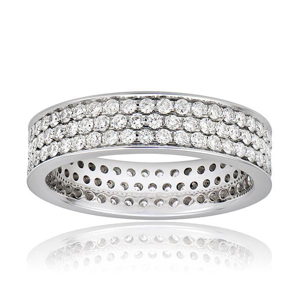 Diamond Micro Pave Eternity Band Ring 1.25cts - SEA Wave Diamonds