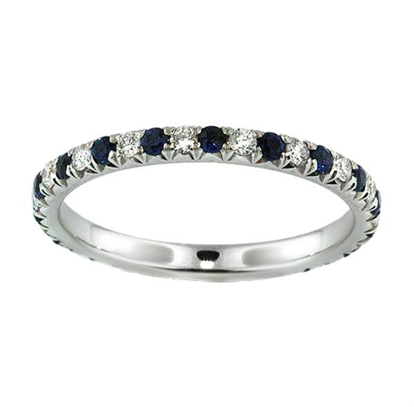 Diamond And Sapphire Eternity Ring - SEA Wave Diamonds