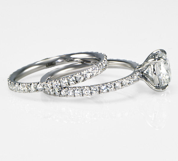 Delicate Pave Diamond Eternity Band 0.65cts - SEA Wave Diamonds