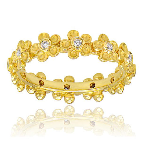 Diamond Flower Eternity Band