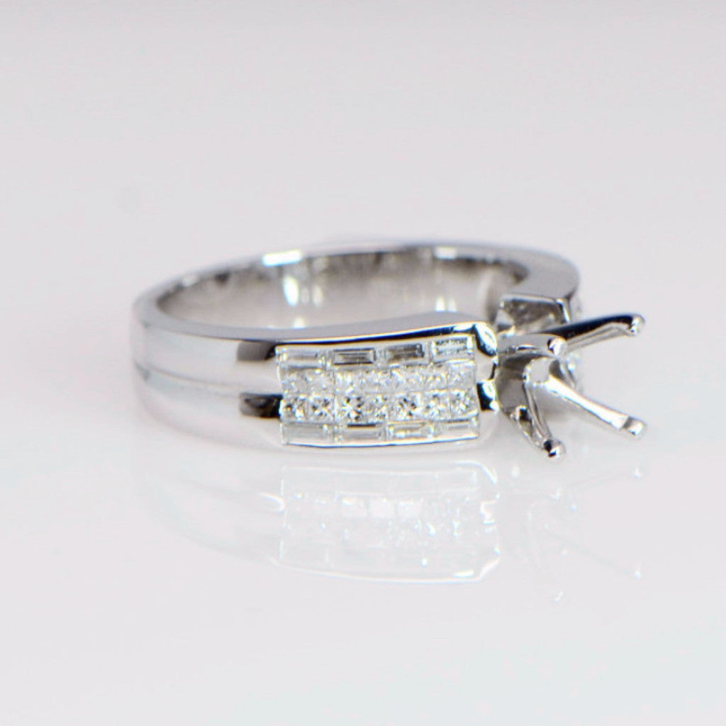 Channel Set Diamond Engagement Ring Setting ENGR01407 - SEA Wave Diamonds