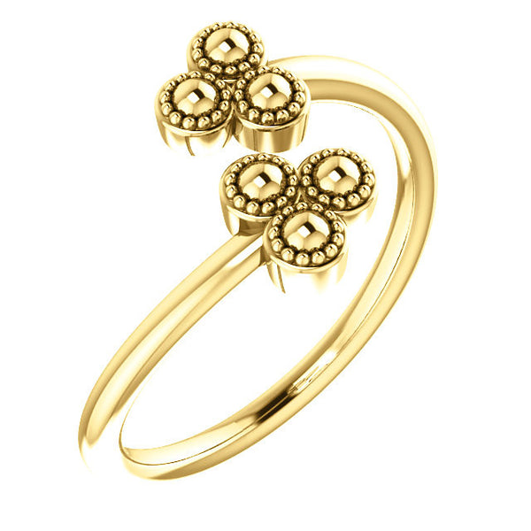 Double Flower Ring - SEA Wave Diamonds