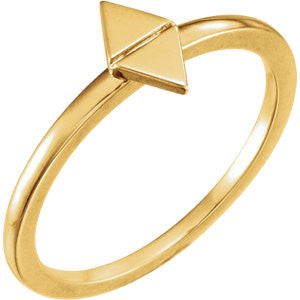 Double Triangle Ring - SEA Wave Diamonds