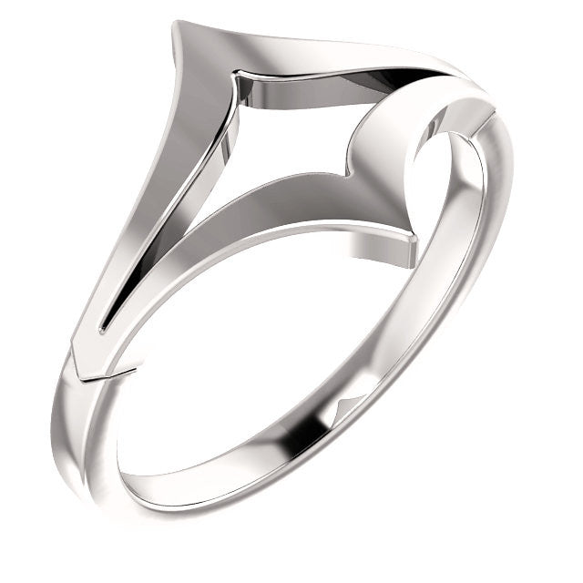 Double V Ring - SEA Wave Diamonds
