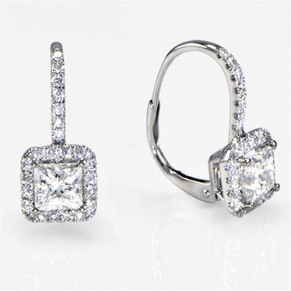 Diamond Drop Earrings 1.42cts - SEA Wave Diamonds