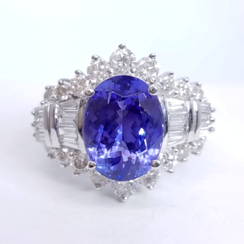 tanzanite bond diamond of product street engagement ring platinum rings diamonds rich and