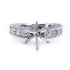 Six Prong Round Center Diamond Engagement Ring Setting - SEA Wave Diamonds