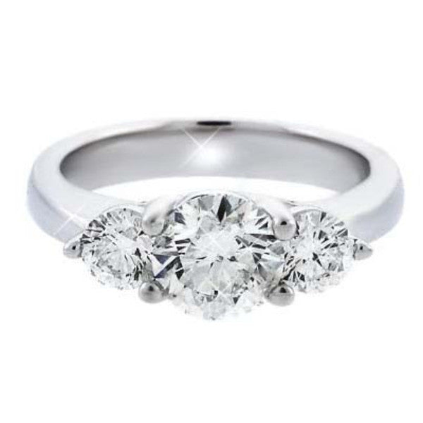 Three Stone Diamond Engagement Ring ENGR01838 / ENGR01839 / ENGR01840 - SEA Wave Diamonds